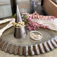 [3月誕生花×誕生石]アセビとアクアマリンのリング*