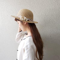 【Lilaf限定1点*】ラフィア素材のマニッシュハット*