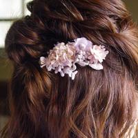 木の実レースとお花のクリップ *Lavender