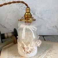 布花とチュールのボトルライト*Small