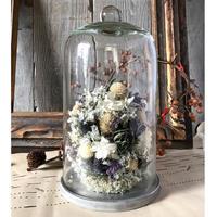 お花のガラスドーム(大)*パープル