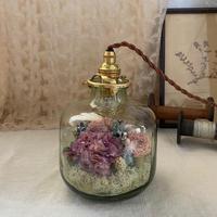 【Lilaf限定1点*】 flower bottle light (ボトルライト)Medium寸胴* Pinkmix