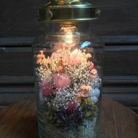 フラワーボトルライト medium*ピンク