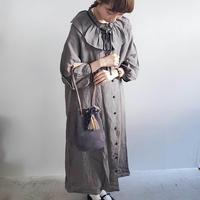 【Lilaf限定色】タッセル付きスエードバッグ*Gray(グレー)