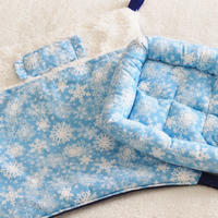 【オーダー】布団ハンモック雪の結晶Lサイズ・ベッドMサイズ