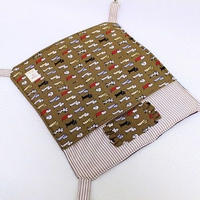 【オーダー】綿入り布団ハンモックMサイズ・フクモモポーチ