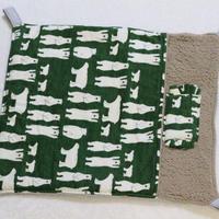 【オーダー】布団ハンモックしろくまモスグリーンLサイズ・寝袋Mサイズ・ケージ用マット(サイズ指定)