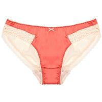 Coral Pink Silk Bikini