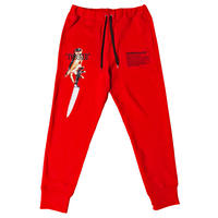 -TWISTED- SWEAT PANTS (RED)