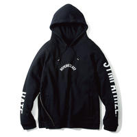 -LILARCH- SIDE ZIP HOODIE (BLK)