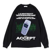 """ACCEPT"" L/S TEE  (BLK)"