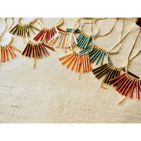 beads fringe earrings