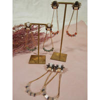 glass chain earrings