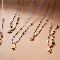 thin silk necklace & choker -turtle-
