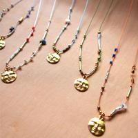 thin silk  necklace & choker -moon-