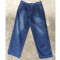 【RICCARDO METHA】One tuck wide trousers リカルドメッサ ワンタック デニムトラウザーズ