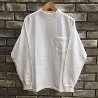 【Goodwear】 L/S Mock Neck Pocket Tee White グッドウエア ロンT