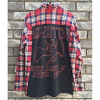 【TRENDY AND TIPSY】BAND TEE FLANNEL SHIRTS RED ZEPPELIN