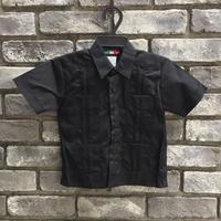 【D'Accord】 Embroidered Guayabera shirts  3Tサイズ Black