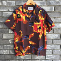 【NOMA t.d.】Summer Shirt - Floral  Orange ノーマ サマーシャツ フローラル