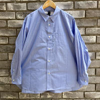 【Breechez】 Stripe Spread Collar Over Shirt