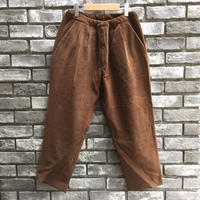 【CESTERS】 Easy Corduroy trousers Brown ケステル タック コーデュロイ イージーパンツ