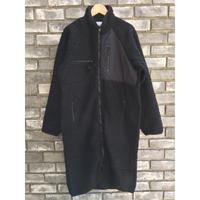 【NOMA t.d.】Fleece Long Coat ノーマティーディ フリース ロングコート Black