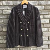 【NOMA t.d.】 Pin Stripe Jacket Black ノーマ ピンストライプ ジャケット セットアップ