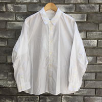 【Breechez】 Broad Regular Collar Over Shirt White ブロード オーバーシャツ