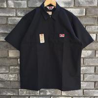 【BEN DAVIS】Half Zip Shirts  Black ベンデイビス ハーフジップ シャツ