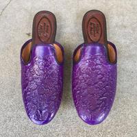【NELSON】 Emboss Zapatillas Purple ネルソン サパティージャ