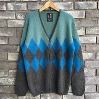 【TIME WILL TELL WORKS】 Alpaca SF Hand Knit Sweater Blue/Charcoalタイムウィルテル アルパカ ハンドニット セーター ブルー チャコール