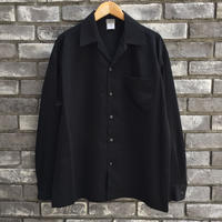 【CalTop】 Open Collar LS Shirt Black カルトップ オープンカラーシャツ