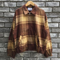 【NOMA t.d.】 N Ombre Plaid Blouson Brown×Beige ノーマ オンブレ ブルゾン