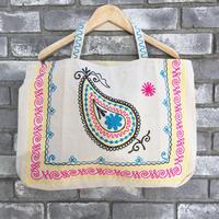 【LILYyoyogiuehara】 Embroidered Tote Bag Big Square