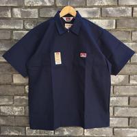 【BEN DAVIS】Half Zip Shirts  Navy ベンデイビス ハーフジップ シャツ