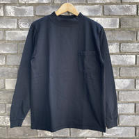 【Goodwear】 L/S Mock Neck Pocket Tee Black グッドウエア ロンT