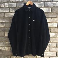 【Caltop】 Corduroy LS Shirt solid Black カルトップ コーデュロイ シャツ