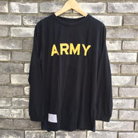 【Dead stock】 U.S.ARMY polyester Fitness LS Tee XLサイズ