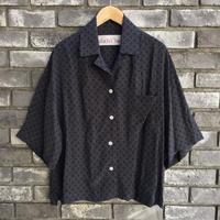 【dahl'ia】 Big Shirts Blouse Navy ビッグシャツブラウス イペカ