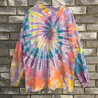 【INSPIRING COLOR TIEDYE × LILY】 Tie-Dye Long Sleeve Grey XLサイズ タイダイ ロンT