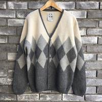 【TIME WILL TELL WORKS】 Alpaca SF Hand Knit Sweater White/Grey タイムウィルテル アルパカ ハンドニット セーター ホワイト グレー