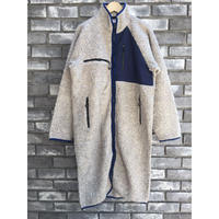 【NOMA t.d.】Fleece Long Coat ノーマティーディ フリース ロングコート  Off-Gray