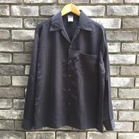 【CalTop】 Open Collar LS Shirt D.Gray カルトップ オープンカラーシャツ