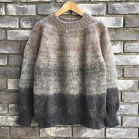 【TIME WILL TELL WORKS】 Gradation Hand Knit Sweater Grey タイムウィルテル グラデーション ハンドニット セーター ニット グレー