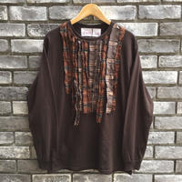 【dahl'ia × LILY】 Check Frill Long Sleeve Tee Brown 別注 ダリア ロンT