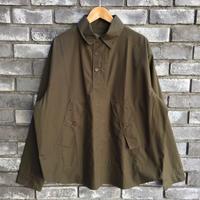 【HAWKWOOD MERCANTILE】Mutt Shirts Jacket Olive ホークウッド メルカンタイル