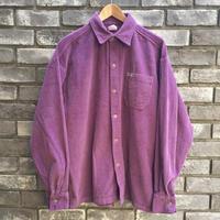 【Caltop】 Corduroy LS Shirt solid purple カルトップ コーデュロイ シャツ