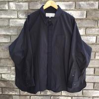 【Breechez】 Super120s Stripe Over Shirt  Navy スーパー120 ストライプ オーバー シャツ