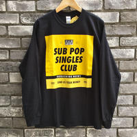 "【SUB POP】 ""SINGLES CLUB"" LS TEE Black サブポップ"